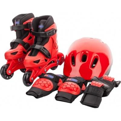 Набор для мальчиков Re:action: роликовые коньки, шлем, защитная экипировка CMB16BR932