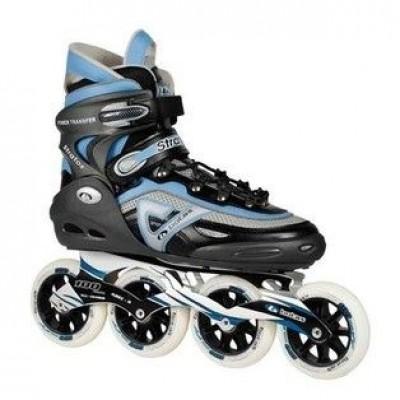 Роликовые коньки Botas STRATOS 100 черно-серо-голубые HI50021-7-932