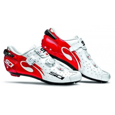 Велотуфли Шоссе Sidi Wire Carbon Vernice White/Red CWIRECVE-44