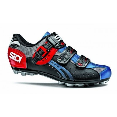 Велотуфли МТБ Sidi Eagle 5-Fit Steel/Black/Blue CEAGLE5F-38.5