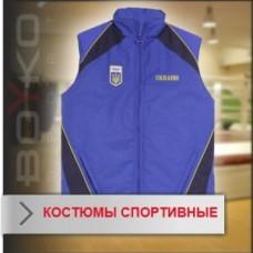 Спортивный костюм Boyko (жёлтая куртка с надписью Ukrainian Sport и синие штаны)