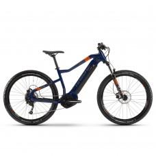 "Электровелосипед Haibike SDURO HardSeven 1.5 i400Wh 9 s. Altus 27,5"", рама XL, голубой-оранжевый-титан, 2020 4540009052"