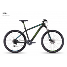 Велосипед GHOST Kato 4 black/green/blue_S, 16KA3744