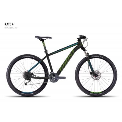Велосипед GHOST Kato 4 black/green/blue_S, 16KA3744
