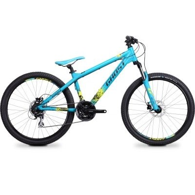 Велосипед Ghost 4-x Comp blue/black/lime green 2014, 14DX2751