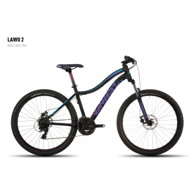 Велосипед GHOST Lawu 2 black/pink/blue, 16MS4504
