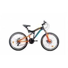 """Подростковый велосипед CROSSRIDE 24 MTB-susp. ST """"NITRO"""", арт.0212"""