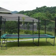 Квадратный батут MBM 457х305 см с защитной сеткой+лестница