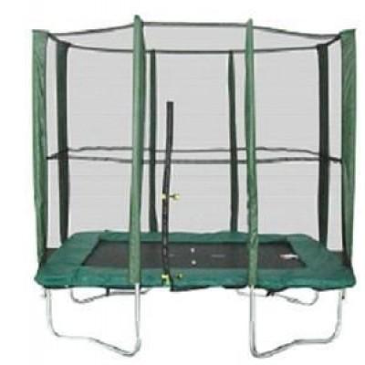 Квадратный батут MBM 215х150 см с защитной сеткой