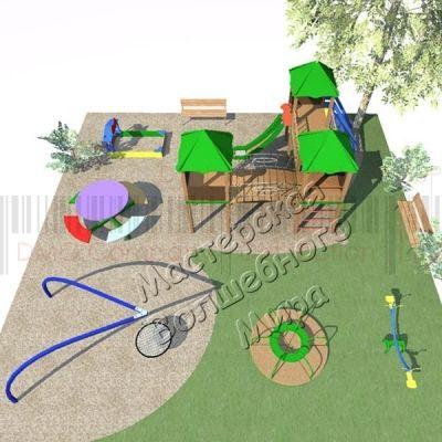 Детская игровая площадка Kidigo Проект 7, PIP-007