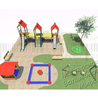 Детская игровая площадка Kidigo Проект 8, PIP-008