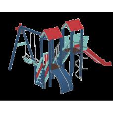 Детский комплекс Kidigo Авалон с металической горкой H 1,5 м<br /> 11774