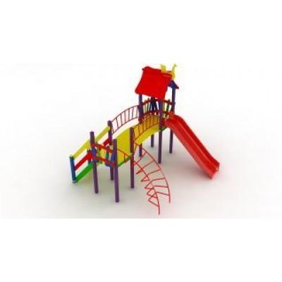 Игровой комплекс Kidigo Верблюжонок с пластиковой горкой ДК 005.044