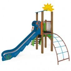 """Игровой комплекс """"Ручеек"""" (канатная лестница и ограждение с пазлом) ТЕ701.2"""