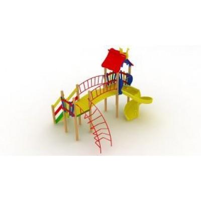 Игровой комплекс Kidigo Верблюжонок с пластиковой горкой Спираль ДК 005.046