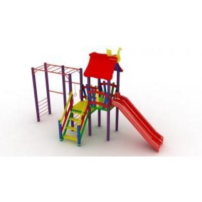 Игровой комплекс Kidigo Котик с пластиковой горкой ДК 005.045