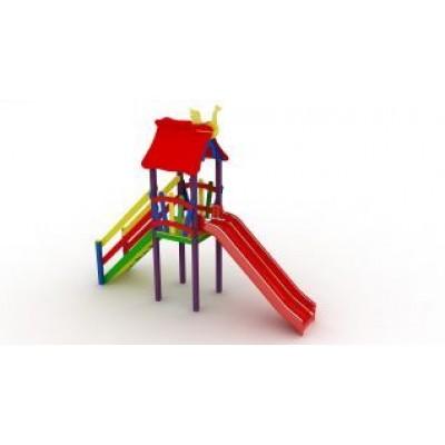 Игровой комплекс Kidigo Мини с пластиковой горкой ДК 005.042