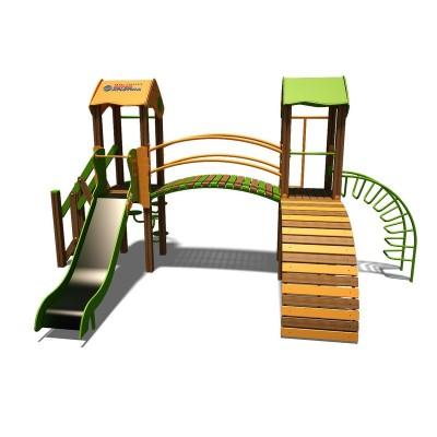 """Игровой комплекс InterAtletika оранжево-зеленый """"Гномик-NEW"""" T802 NEW OG"""