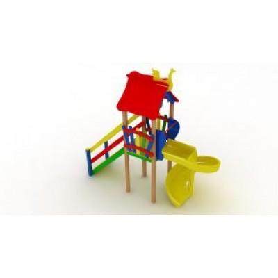 Игровой комплекс Kidigo Мини с пластиковой горкой Спираль ДК 005.047