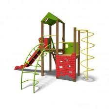 """Игровой комплекс InterAtletika зелено-красный """"Башня-NEW"""" T901 NEW GR"""