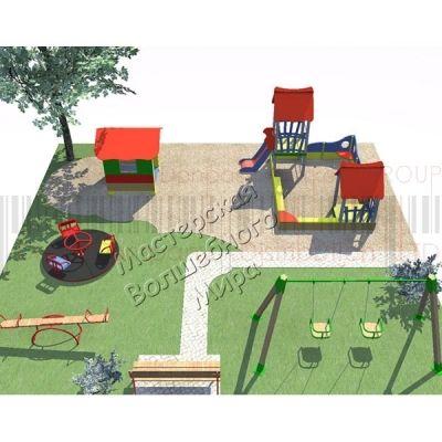 Детская игровая площадка Kidigo Проект 6, PIP-006