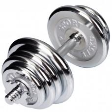 Гантели хромированные Hop-Sport 1 x 20 кг