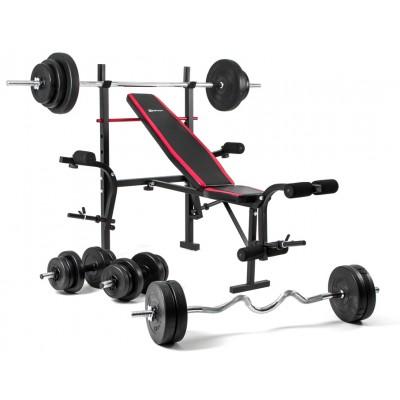 Регулируемая скамья со стойками Hop-Sport HS-1055