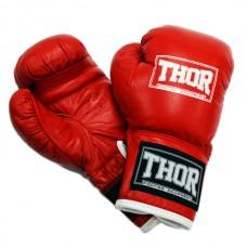 Боксерские перчатки детские THOR JUNIOR (Leather) RED 513(Leather) RED