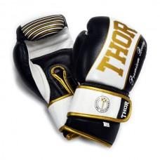 Боксерские перчатки THOR THUNDER (Leather) 529/09 BLK
