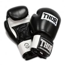 Боксерские перчатки THOR SPARRING (Leather) BLK/WH 558