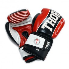 Боксерские перчатки THOR THUNDER (Leather) RED 529/13