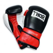 Боксерские перчатки THOR ULTIMATE(Leather)W/B/R 551/01
