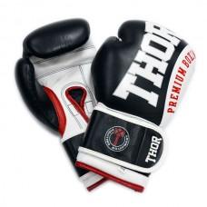 Боксерские перчатки THOR SHARK (Leather) BLK 8019/03