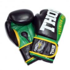 Боксерские перчатки THOR SHARK (Leather) GRN 8019/01