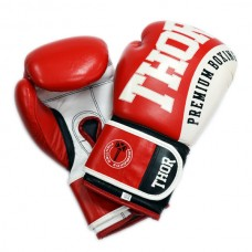 Боксерские перчатки THOR SHARK (Leather) RED 8019/02