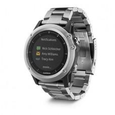 Мультиспортивные часы навигатор пульсометр Garmin fēnix 3 HR Glass & Titanium Silver 010-01338-79