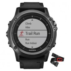 Мультиспортивные часы навигатор пульсометр Garmin fēnix 3 Sapphire HR Gray Performer Bundle 010-01338-74