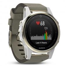 Мультиспортивные часы навигатор пульсометр Garmin fēnix 5S Sapphire