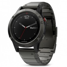Мультиспортивные часы навигатор пульсометр Garmin Fenix 5 Sapphire 010-01688-21