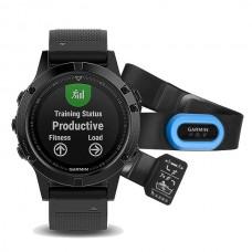Мультиспортивные часы навигатор пульсометр Garmin Fenix 5 Sapphire Performer Bundle 010-01688-32