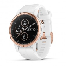 Мультиспортивные часы навигатор пульсометр Garmin Fenix 5S Plus Sapphire 010-01987-07