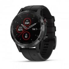 Мультиспортивные часы навигатор пульсометр Garmin Fenix 5 Plus Sapphire 010-01988-01