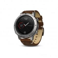 Мультиспортивные часы навигатор пульсометр Garmin fēnix Chronos Steel with Vintage Leather Watch Band 010-01957-00