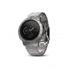 Мультиспортивные часы навигатор пульсометр Garmin fenix Chronos Steel Sapphire with Brushed Stainless 010-01957-02