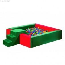 Сухой бассейн с горкой 150-150-40 см Тia-sport sm-0201