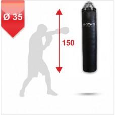 Мешок боксерский на пружинах Boyko 150x35 кожа