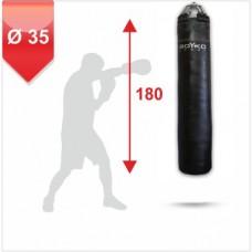 Мешок боксерский на пружинах Boyko 180x35 кожа