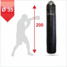 Мешок боксерский на пружинах Boyko 200x35 кожа