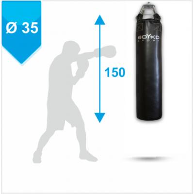 Мешок боксерский Boyko из ткани ПВХ с узлом крепления на 6 цепях 150х35, 40-60