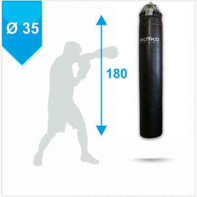 Мешок боксерский Boyko из ткани ПВХ с узлом крепления на 8 цепях 180х35, 50-70